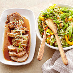 Teriyaki Pork with Asian Slaw