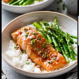 Teriyaki Salmon with Brown Rice
