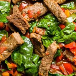 Teriyaki Steak Stir-Fry with Peppers