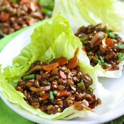 Teriyaki Tempeh Lettuce Wraps