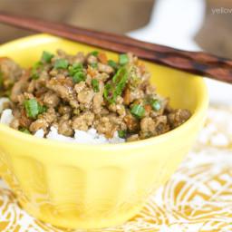 Teriyaki Turkey Rice Bowl