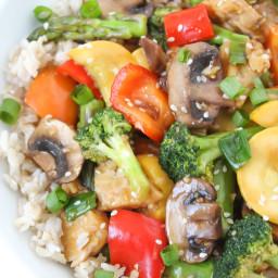Teriyaki Vegetable Stir Fry (Oil-Free)
