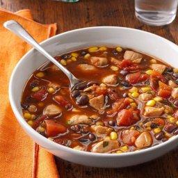 Tex-Mex Chicken & Black Bean Soup