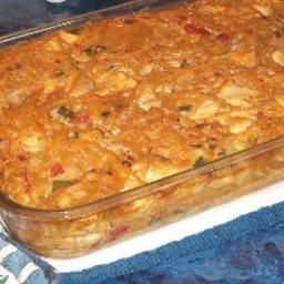 Tex-mex Chicken Spaghetti Casserole