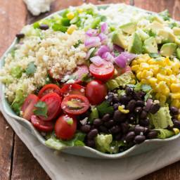 Tex Mex Quinoa Salad with Cilantro-Lime Vinagrette