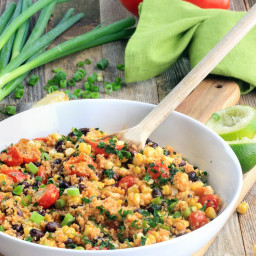 Tex-Mex Quinoa Salad with Homemade Vinaigrette