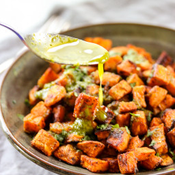Tex-Mex Roasted Sweet Potatoes