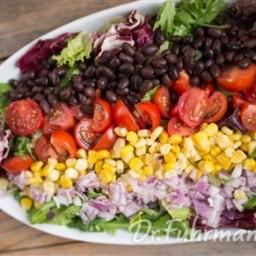 Tex Mex Salad with Easy Avocado Dressing