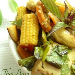 Thai Basil Vegetable and Tofu Stir Fry Recipe