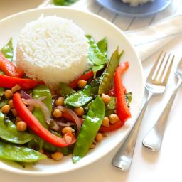Thai Basil Veggie Stir Fry Nakano (June)