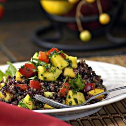 Thai Black Rice and Quinoa Salad