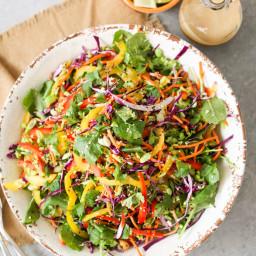 Thai Cashew Chopped Salad with Sesame-Garlic Dressing