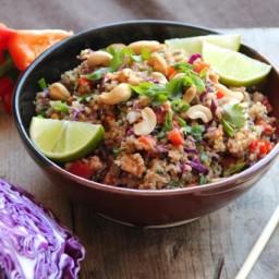 Thai Cashew Quinoa with Ginger Peanut Sauce
