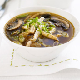 Thai chicken and mushroom broth