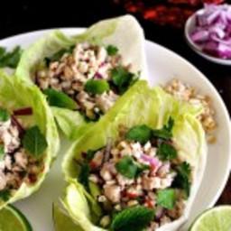 Thai Chicken Lettuce Cups (Larb Gai, Laab Gai)
