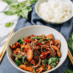 Thai Chicken Stir-fry with Basil and Mint