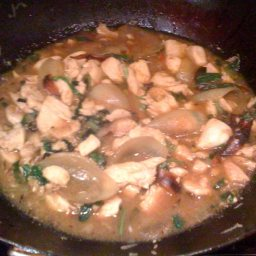 Thai Chicken Stir Fry with Mint Leaves and Chile