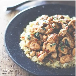 Thai Chicken with Basil and Cauliflower Fried Rice - Low Carb