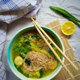 Thai coconut and green veg broth