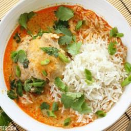 Thai Coconut Curry Braised Chicken Thighs