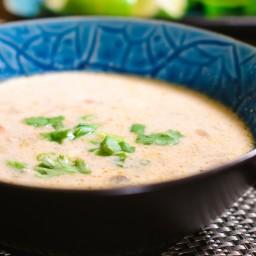 Thai Coconut Curry Chicken Soup (Tom Kha Gai)