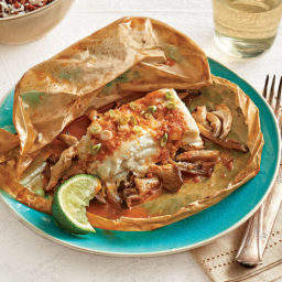 Thai-Curry Butter Halibut Packets