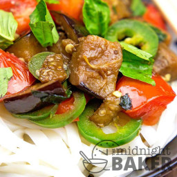 Thai Eggplant with Basil and Tomatoes