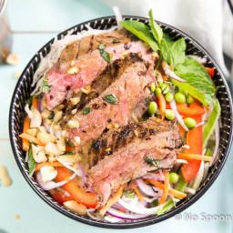 Thai Ginger Steak Noodle Salad