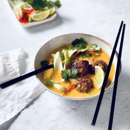 Thai Inspired Coconut Turkey Soup
