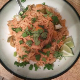 Thai-ish Peanut Sauce with Rice Noodles