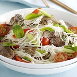 Thai lamb and mint noodle salad