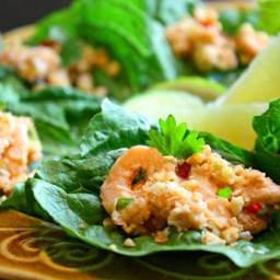 Thai Mini Shrimp Lettuce Wraps Recipe