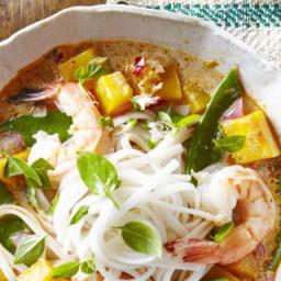 Thai Noodle Soup with Shrimp & Pumpkin