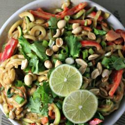 thai peanut zoodles