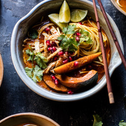 Thai Pomegranate Chicken Noodle Soup
