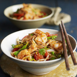 Thai prawn and ginger noodles
