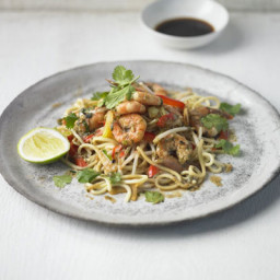 Thai prawn, ginger and spring onion stir-fry