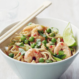 Thai prawn noodles