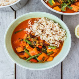 Thai Red Curry with Tofu and Green Beans
