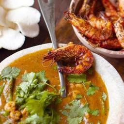 Thai Red Prawn Curry and Papaya Platter Meal Recipe