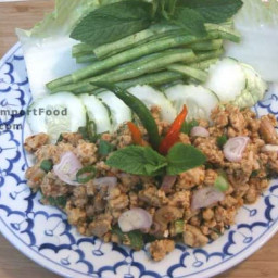 Thai Spicy Ground Chicken and Toasted Rice, 'Larb Gai'