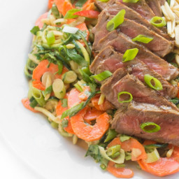 Thai Steak Salad with Zucchini Noodles