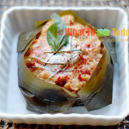THAI STEAMED FISH CAKE/ HA MOK PLA (4 fish cakes)