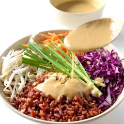 Thai Style Buddha Bowl with Peanut Sauce