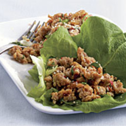 Thai-Style Spicy Chicken in Lettuce Cups