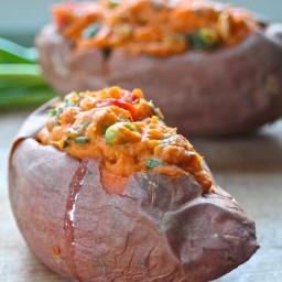 Thai-Style Stuffed Sweet Potatoes