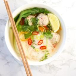 Thai Turkey Meatball Soup