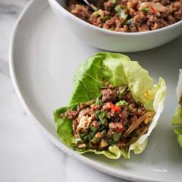Thai Venison Lettuce Cups