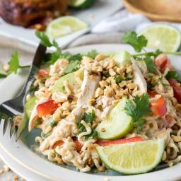 Thai Chicken Pasta Salad