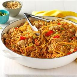 Thai Chicken Peanut Noodles Recipe